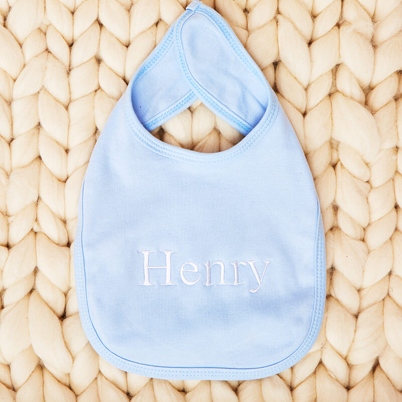 Personalised Embroidered Name Baby Bib