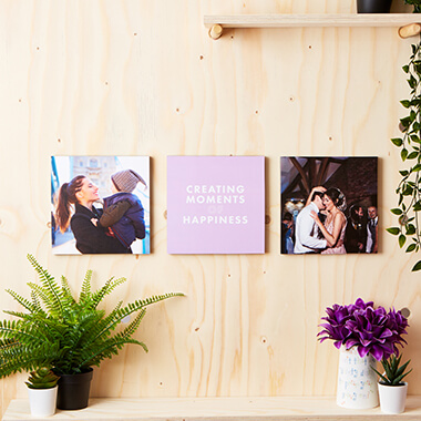 Personalised Photo Tiles - Set of 3