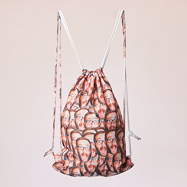 Personalised Photo Drawstring Bag