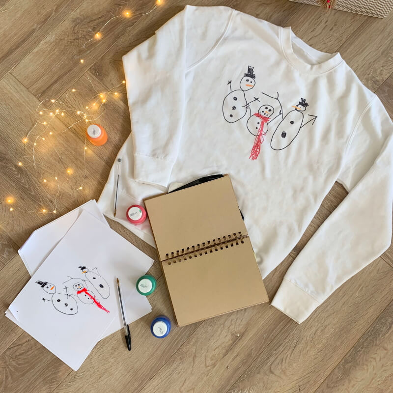 Personalised Draw Your Own Snowman Jumper