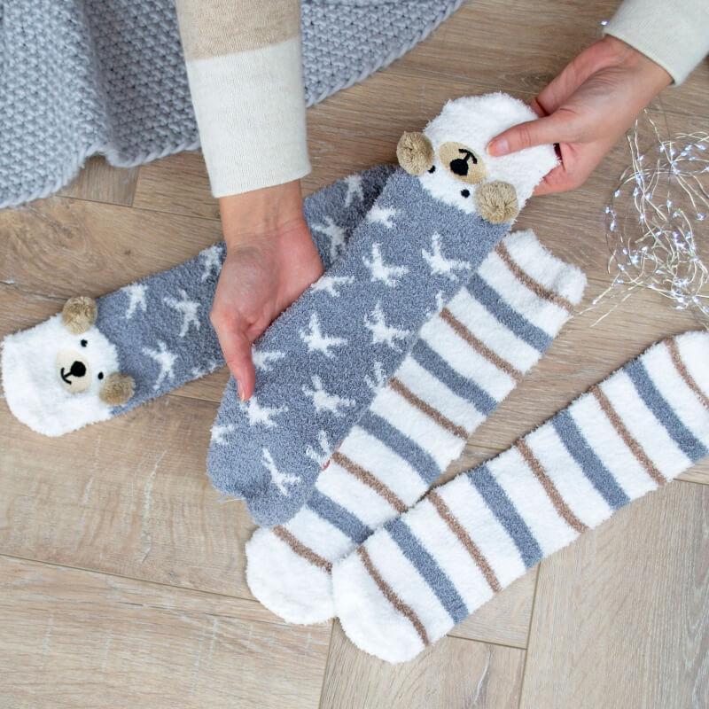 Cosy Bear Socks - Set of Two