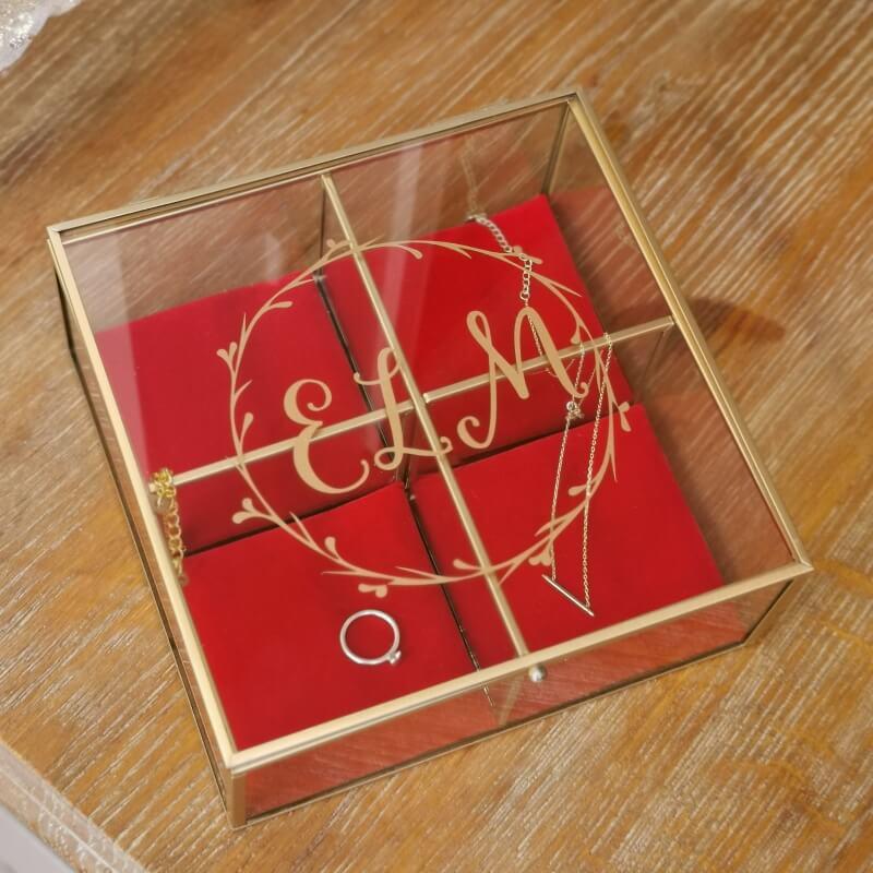 Personalised Velvet Cushion Trinket Box