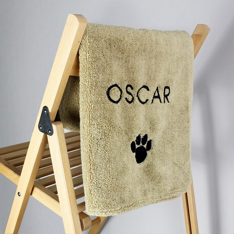 Personalised Pet Microfiber Towel