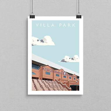 Villa Park Football Ground Print