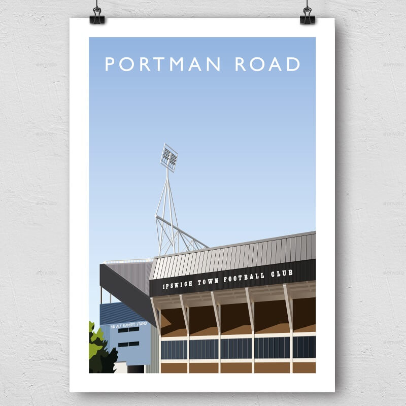 Portman Road Football Ground Print