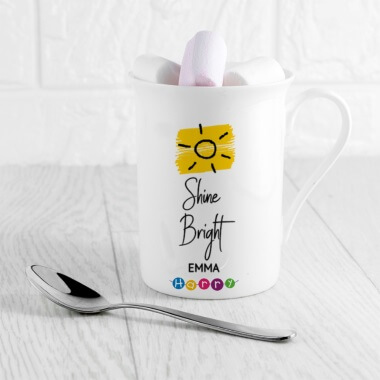 Help Harry Help Others Personalised Shine Bright Bone China Mug