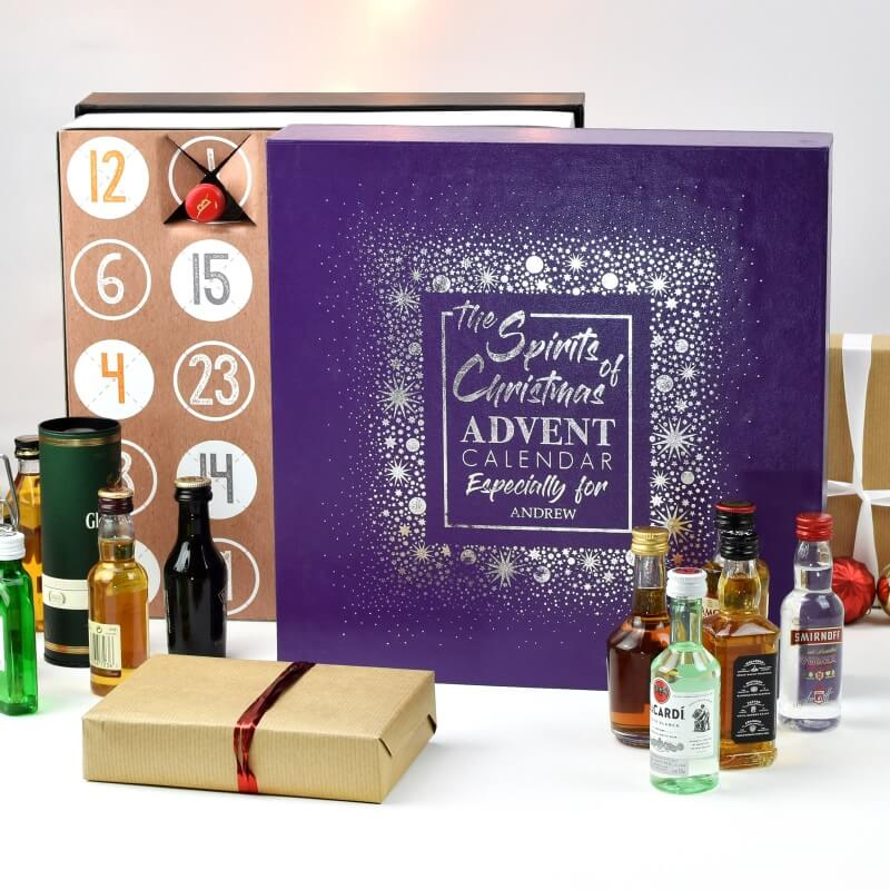Personalised Alcohol Miniature Advent Calendar