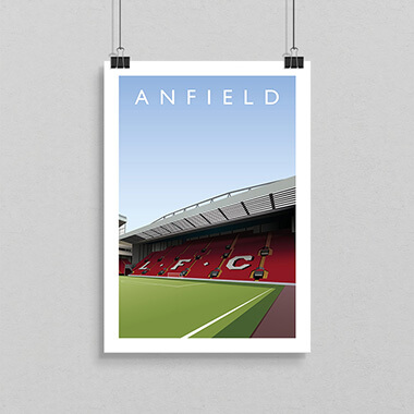 Anfield Football Ground Print
