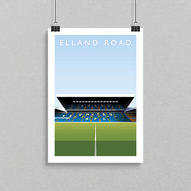 Elland Road Football Ground Print
