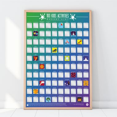 100 Kids Scratch Off Activities Poster