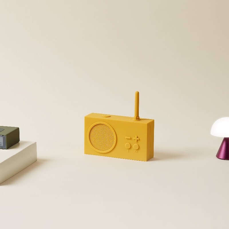 Lexon Tykho Radio & Bluetooth Speaker - Yellow
