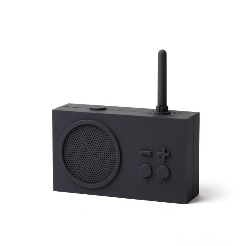 Lexon Tykho Radio & Bluetooth Speaker - Dark Grey