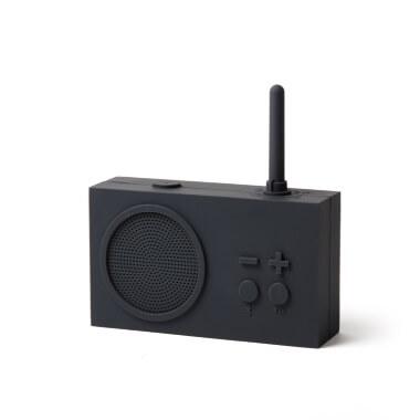 Lexon Tykho Radio & Bluetooth Speaker - Dark Grey