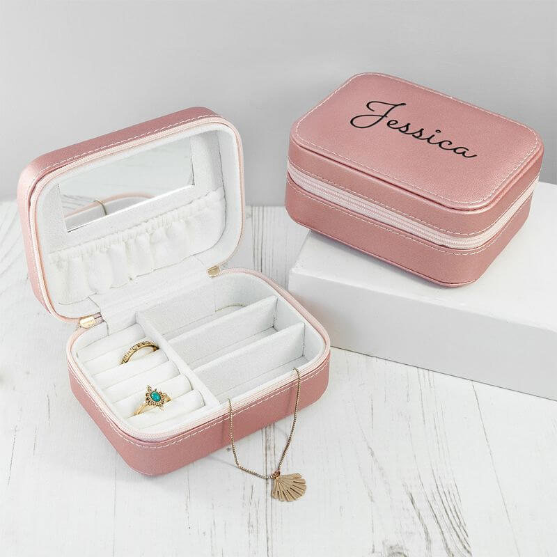 Personalised Travel Jewellery Case