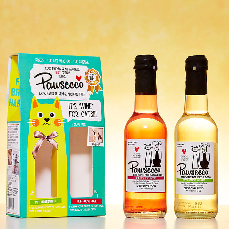 Pawsecco Duo Gift Box for Cats