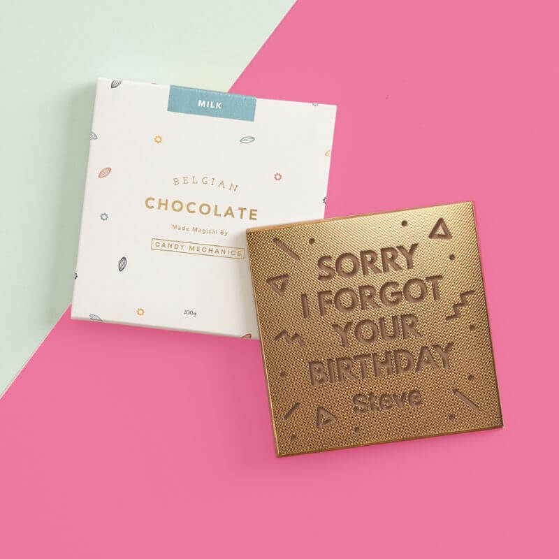 Personalised Forgot Your Birthday Chocolate Card