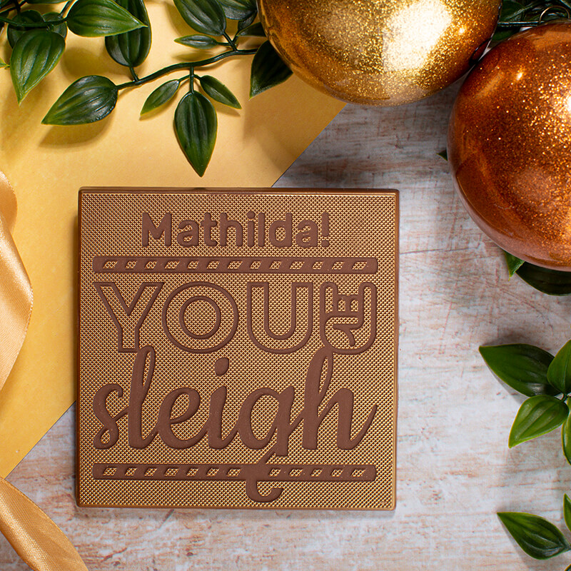 Personalised You Sleigh Chocolate Card