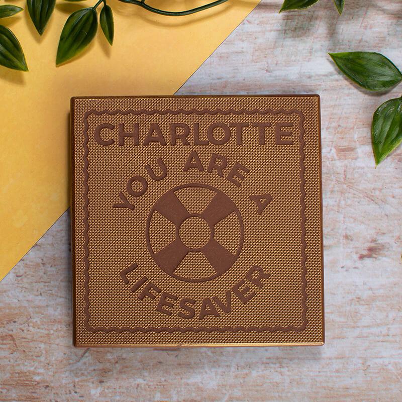 Personalised Lifesaver Chocolate Card