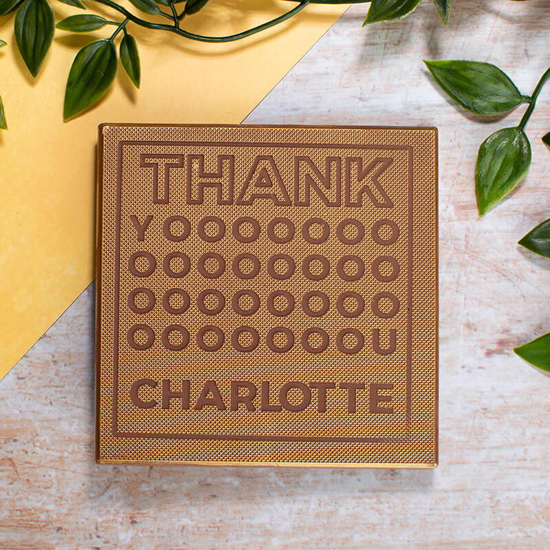 Personalised Thank You Chocolate Card