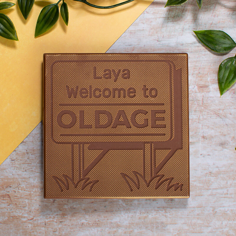Personalised Old Age Birthday Chocolate Card