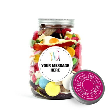 Personalised Greedy Guts Sweets Jar