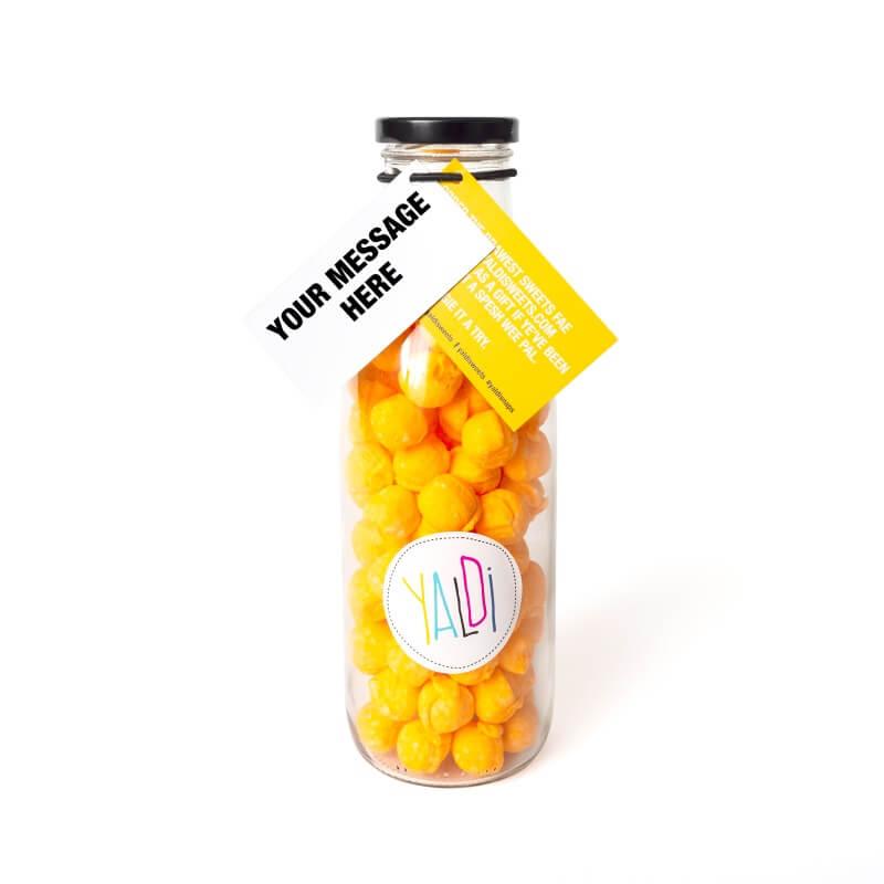 Personalised Braw Bottle Sweet Jar