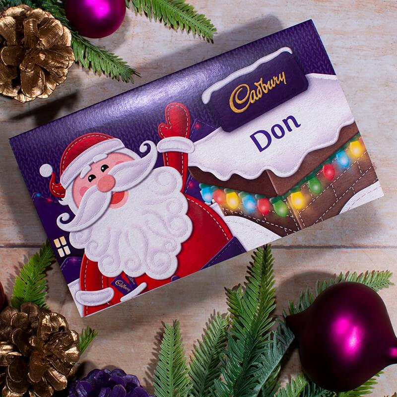 Personalised Cadbury Santa Chocolate Gift Card - 110g