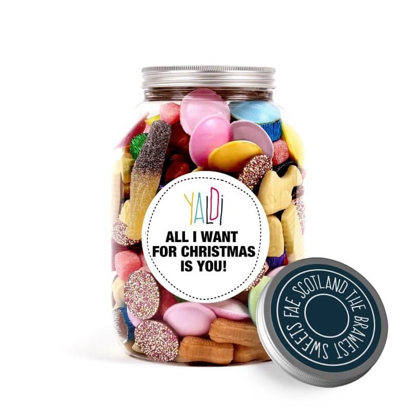 Christmas Greedy Guts Sweet Jar