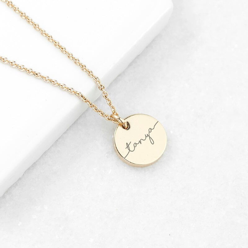 Click to view product details and reviews for Personalised Disc Necklace.