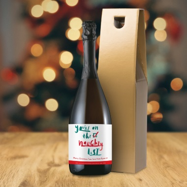 Personalised 'Naughty List' Prosecco