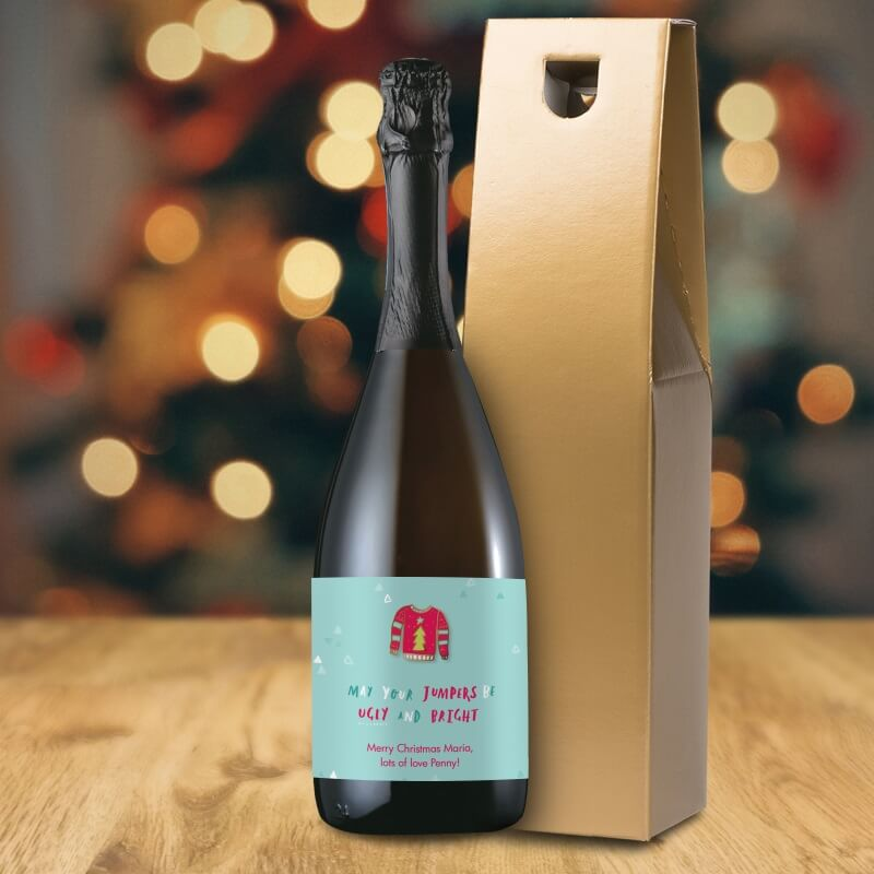 Personalised 'Ugly and Bright' Prosecco