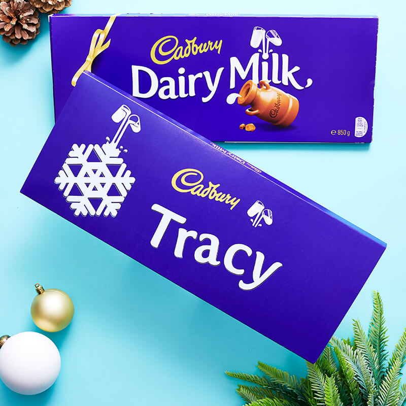 Personalised Cadburys Christmas Dairy Milk Bar - 850g