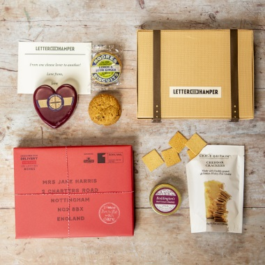 Personalised Cheese And Biscuits By Post Letter Box Hamper