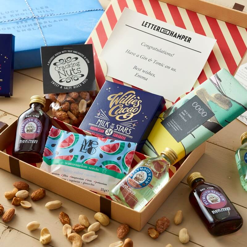 Personalised Gin Lovers Letter Box Hamper