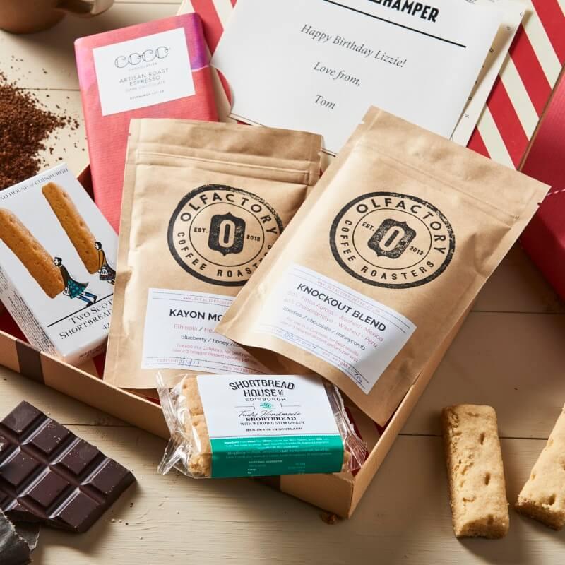 Personalised Coffee Lovers Letter Box Hamper