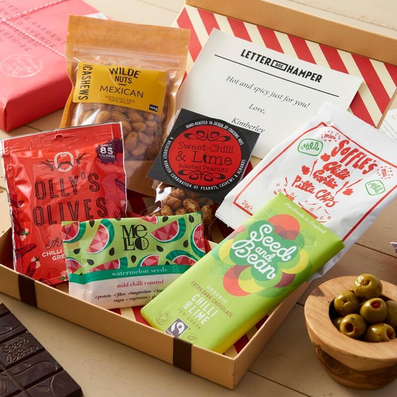 Personalised Chilli Lovers Letter Box Hamper
