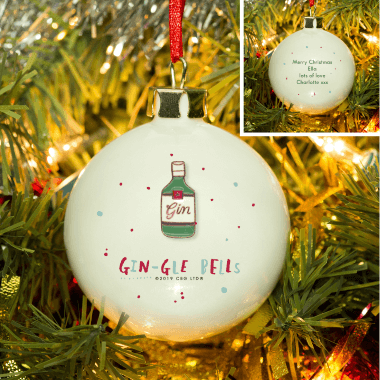 Personalised Gin-gle Bells Bauble