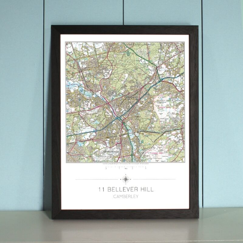 Personalised My Home is Here Wall Map