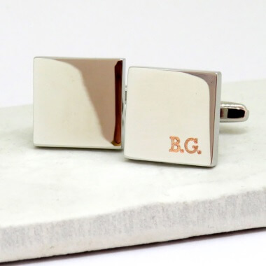 Personalised Boarder Initial Cufflinks