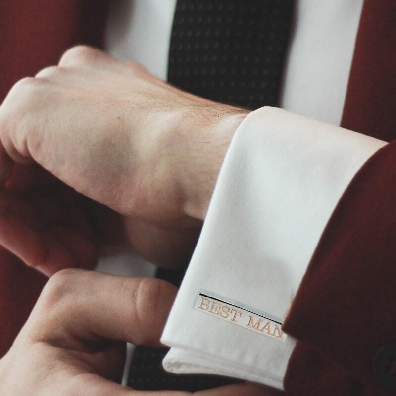 Personalised Bold Bar Cufflinks
