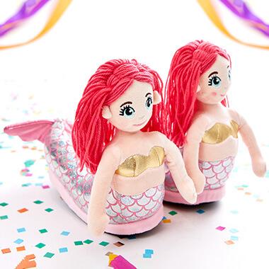LED Light Up Mermaid Slippers - Girls
