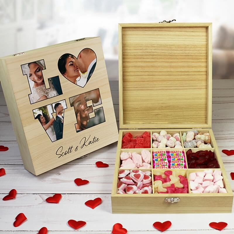 Personalised Love Photo Sweet box - 9 Compartments