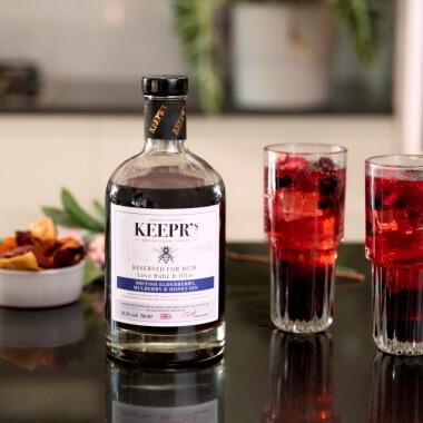 Personalised British Elderberry, Mulberry And Honey Gin