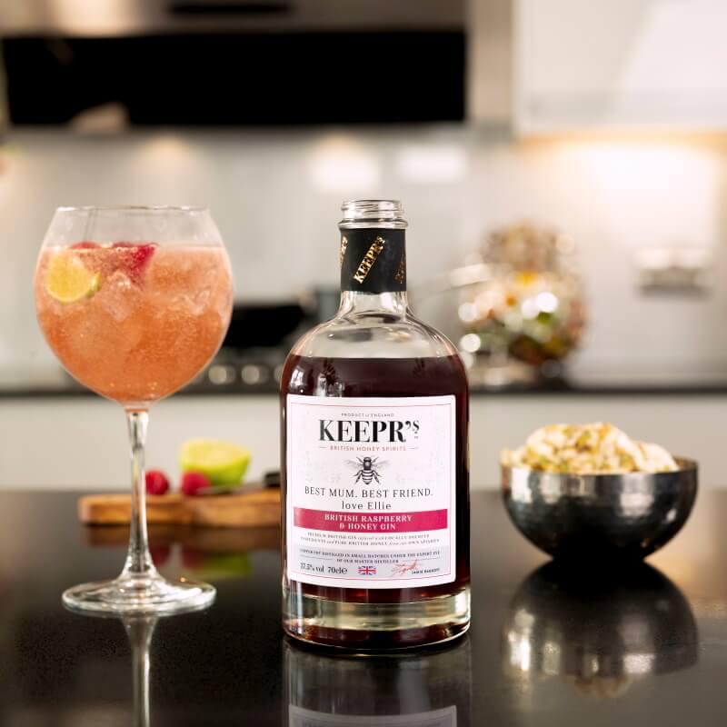 Personalised British Rasberry And Honey Gin