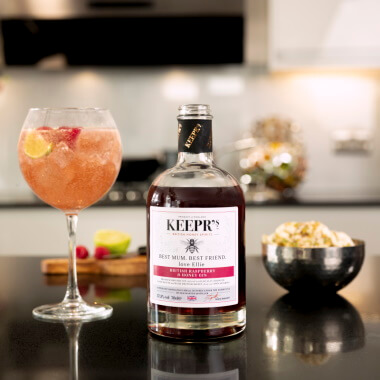 Personalised British Rasberry And Honey Gin