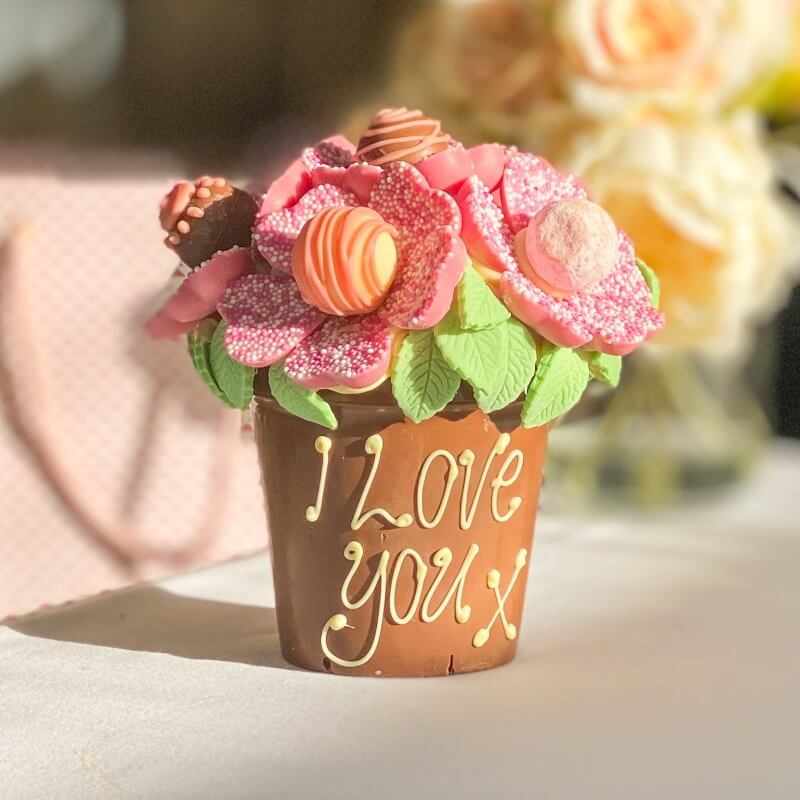 Personalised Smash Flower Pot - Pink