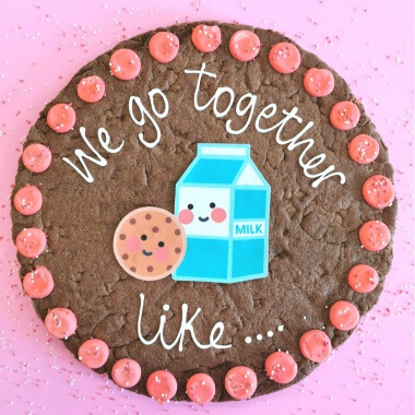 We Go Together Large Chocolate Chip Cookie