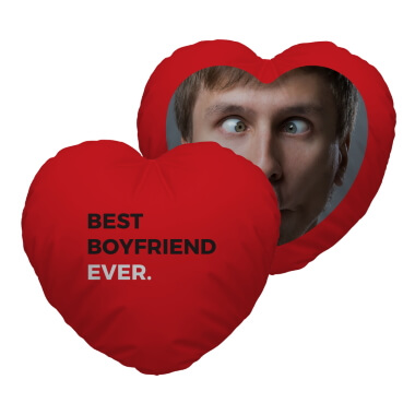 Personalised Best Boyfriend Ever Heart Cushion
