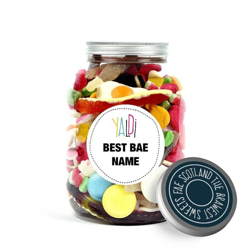 Personalised Valentines Greedy Guts Sweets Jar