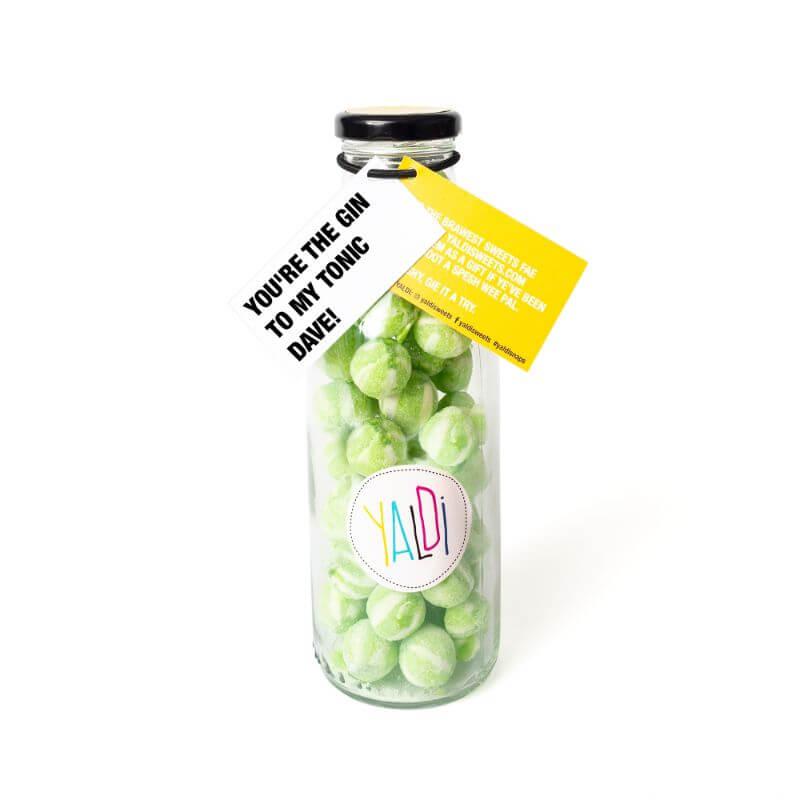 Personalised Valentines Bottle Sweet Jar